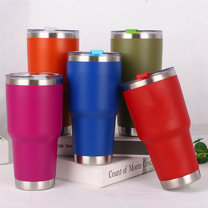 Double Wall Insulation Stainless Steel Tumbler Vacuum Portable Travel Mug Cup Coffee 30oZ