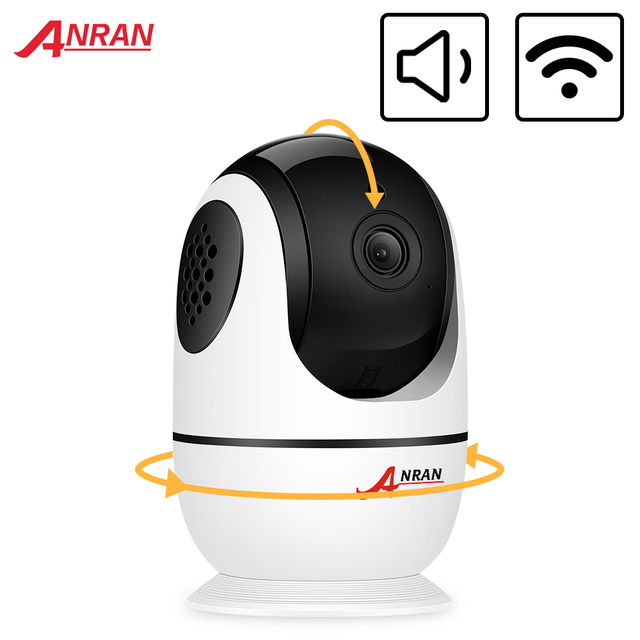 Anrun 1080P IP كاميرا لاسلكية كاميرا مراقبة للمنزل اتجاهين الصوت كاميرا مراقبة واي فاي للرؤية الليلية كاميرا تلفزيونات الدوائر المغلقة APP عن بعد