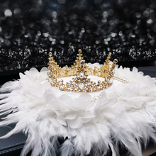 New Crown Diamond Pearl Ornaments Feather Gift Cute Creative Car Interior Luxurious Decorations for Girl for Women