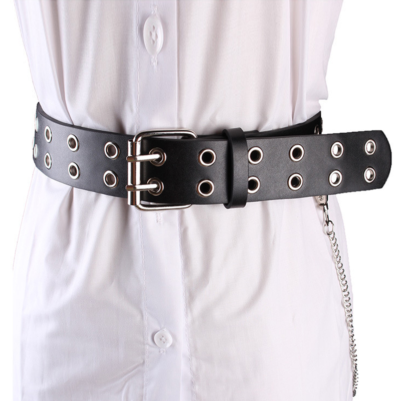 2020 Punk Belt Imitation Leather Pin Buckle Belts For Women BF Chic Jeans Fashion Individual Waist Belt Chain Cinturon Mujer