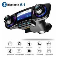 BT06 Bluetooth Car Charger FM Transmitter New Style Bluetooth 5.1 Smart Vehicle Bluetooth Charger MP3 Player FM Transmitter|Chargers| |  -