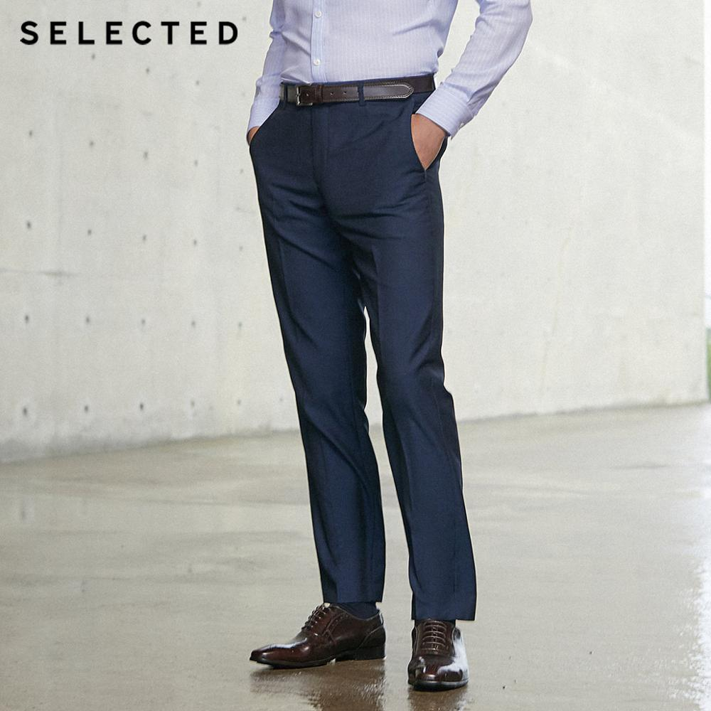 SELECTED Men's Pure Color Regular Fit Suit Pants T|41916A505