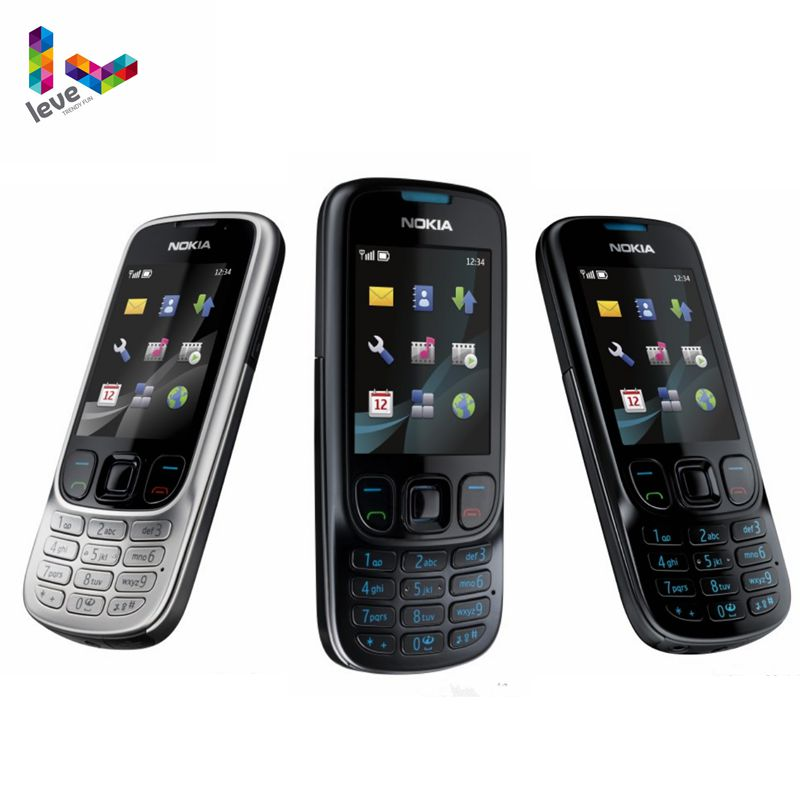 Nokia 6303 Classic 6303C FM GSM Mobile Phone Support Russian Keyboard Original Unlocked Cell Phone Free shipping image