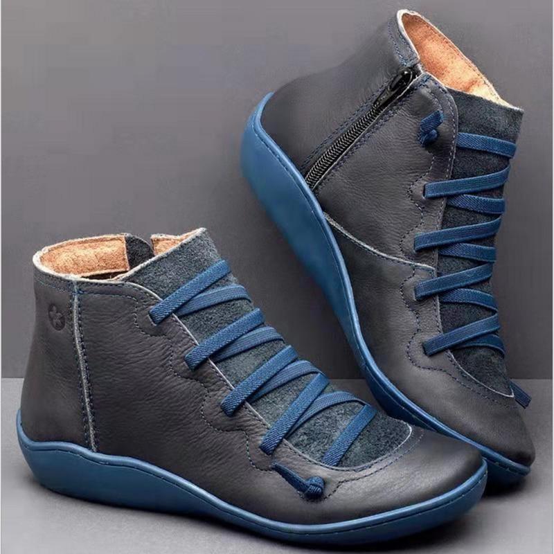 2020 가을 신발 여성 부츠 여성 겨울 발목 부츠 여성 겨울 부츠 부츠 민족 부드러운 편안한 숙 녀 신발 플러스 크기