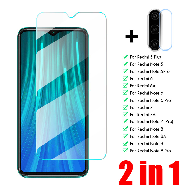 Full Cover Tempered Glass For Xiaomi Redmi Note 8 7 6 5 Camera Lens Screen Protector For Redmi 6A 7A 8A 5 Plus Protective Glass
