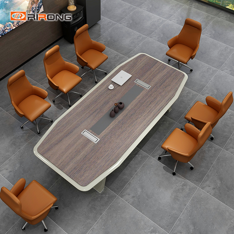 Small Wooden Industrial Antique Style Oval Office Meeting Table Conference Table Desk Furniture