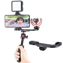 Ulanzi PT 8 PT 9 Vlog Giày Lạnh Đĩa Cho GoPro 7 6 5 Máy Ảnh DSLR Kéo Dài Giày Lạnh Để Gắn Đèn LED video Micro