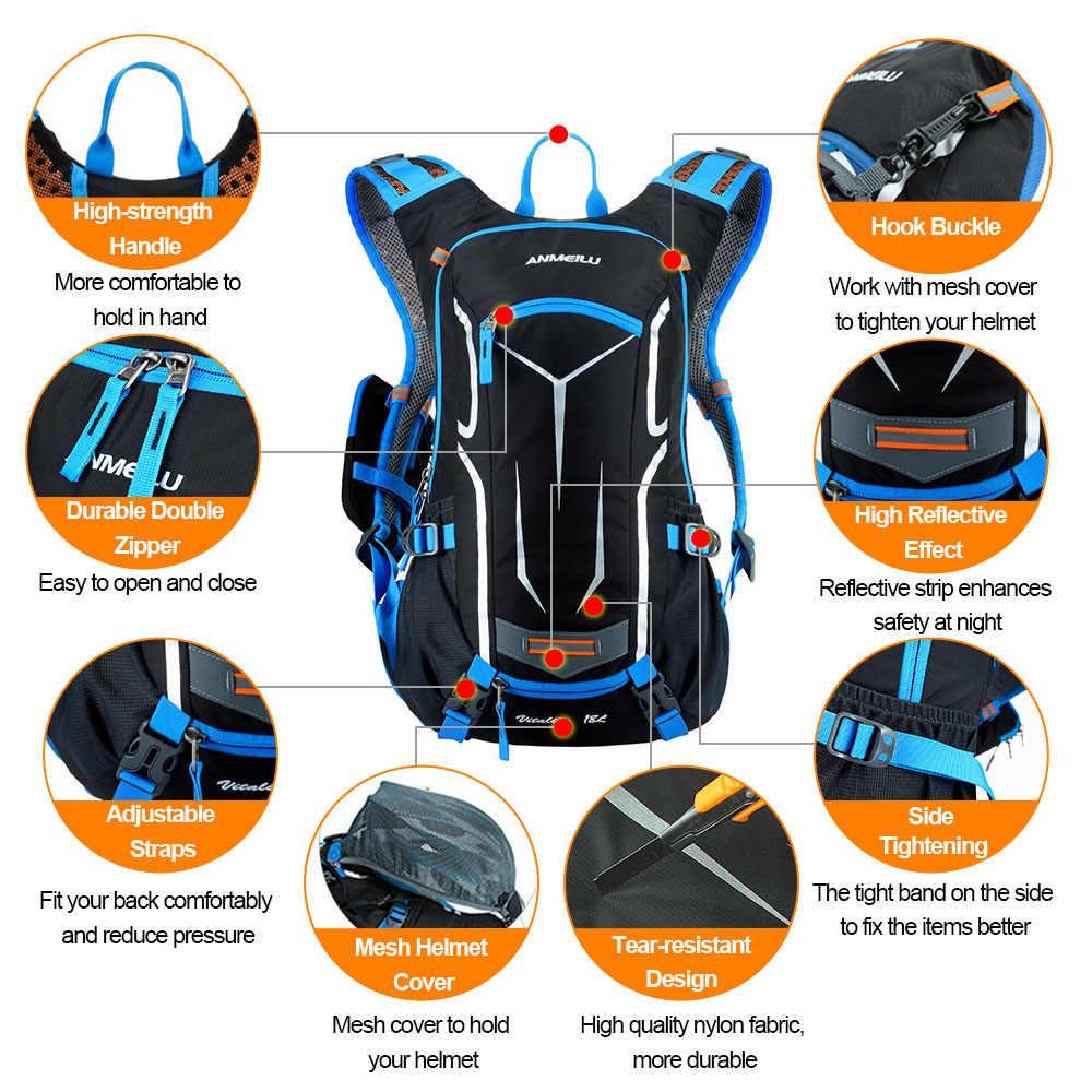 Lixada Tahan Air Sepeda Tas Bersepeda Ransel dengan Rain Cover 18L Bernapas Mendaki Berkemah MTB Gunung Sepeda Hidrasi Ransel