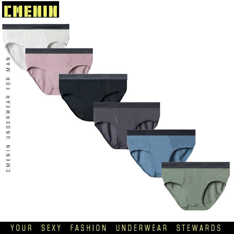 6Pcs Sexy Underwear Men Briefs Jockstrap Solid Breathable Bikini Cotton Men Underwear Male Jock Strap Cueca Male Lingerie AD307