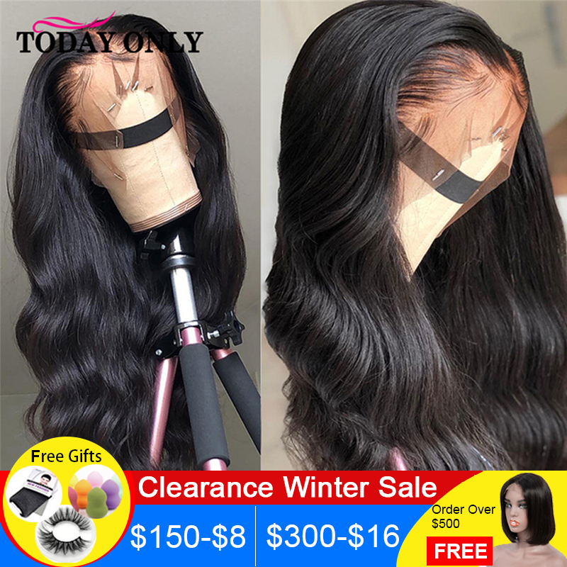 13x4 13x6 Peruvian Body Wave Lace Front Human Hair Wigs For Women Pre Remy Lace Front Wigs 150% 180 Density Lace Wig MediumRatio