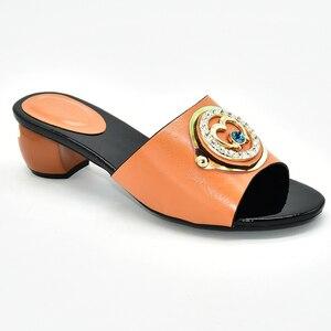 Image 4 - Buty damskie klapki na lato dobrej jakości buty ślubne damskie włoskie ozdobione Rhinestone klapki do noszenia na co dzień dla obuwia damskiego
