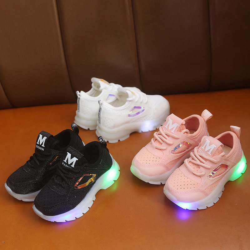 Led Luminous Baby Toddler Shoes For Boys Girls Comfortable Running Children's Sneakers Suitable To 1-6 Years Old