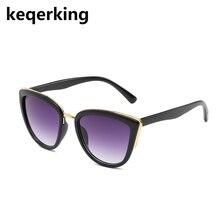 KEQERKING Sunglasses Women Retro Gradient Glasses Retro Cat