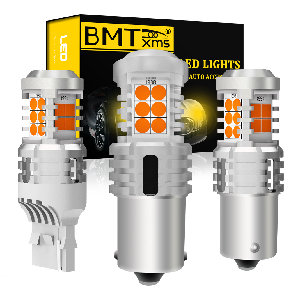 BMT For BMW X1 E84 F48 X3 E83 F25 X5 E53 Z3 <font><b>E36</b></font> Canbu Error Free <font><b>Led</b></font> Turn Signal Amber Lights Ba15s Bau15s P21W PY21W T20 7440 image