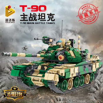цена на Military series WW2 Russian T-90 main battle tank building block series set compatible with legoINGlys toys Christmas children's