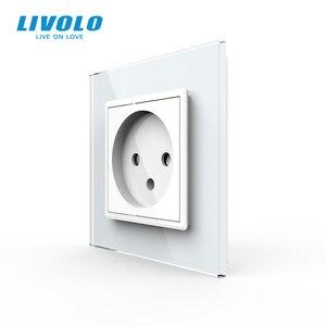 Image 2 - Livolo EU Standard Israel Power Socket, Crystal Glass Panel,100~250V 16A Wall Power Socket,C7C1IL 11/12/13/15(7colors),no logo