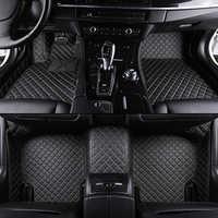 Tapis de sol de voiture sur mesure pour hyundai santa fe tucson i40 getz solaris creta elantra sonata kona ix25 cuir tous modèles tapis de voiture