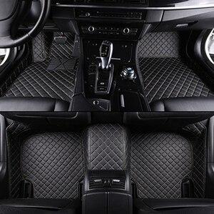custom car floor mats for hyundai i40 santa fe tucson getz solaris creta elantra sonata kona ix25 leather all models car mats(China)