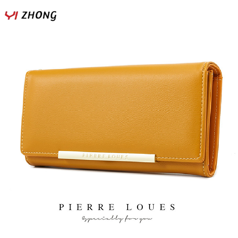 YIZHONG Leather Luxury Wallet for Women Many Departments Women Wallets Card Holder Purse Female Purses Long Clutch Carteras