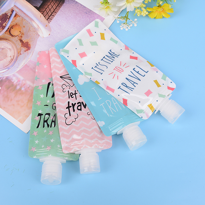 100ml Travel Food-grade Silicone Bottles Shampoo Shower Gel Lotion Sub-bottling Tube Squeeze Empty Bottle Free Shipping
