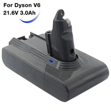 Vacuum Cleaner Replacement Rechargeable battery Lithium 21.6V 3000mAh for Dyson DC58 DC59 DC61 V6 DC62 animal SV03 SV07 SV09