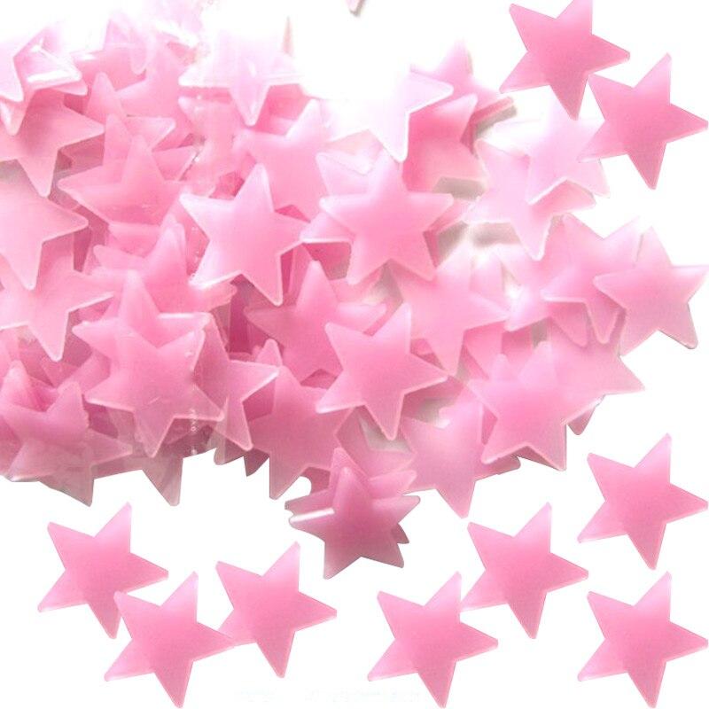 100 шт. домашний Декор Наклейки на стены свечение Цвет флуоресцентные светящиеся звезды наклейки на стену для детей для детской комнаты HFD889