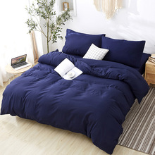 hot sell quilt cover bedclothes bedding set double layer blanket simple fashion crystal thicken velvet quilt cover home supplies Simple modern style Solid color Four-piece quilt cover Comfortable and healthy quilt cover bedding set  Home  bed linen  Modern