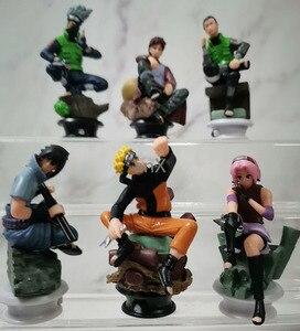 Image 4 - 7 CM 6 PCS Naruto Action Figure Toys 12 Styles Q style Zabuza Haku Kakashi Sasuke Naruto Sakura PVC Model Doll Collection Toy