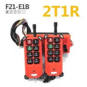 Image 2 - Ücretsiz kargo endüstriyel kablosuz uzaktan kumanda f21 e1b için vinç 8 kanal denetleyici 2 vericiler 1 alıcı