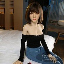 2020new 157cm 진짜 실리콘 섹스 인형 현실적인 질 구강 고양이 엉덩이 TPE 및 금속 해골 일본 섹시한 아름다움