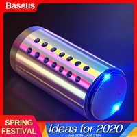 Baseus mini carro de metal ambientador aromaterapia para ar condicionado clipe carro difusor limpo sólido perfume auto tomada ambientador