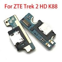 Novo para zte trek 2 hd k88 porta de carregamento usb microfone doca conector placa cabo flexível peças reparo|Fios flexíveis de telefone celular| |  -