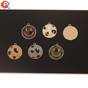 Image 2 - Cordial Design 50Pcs 18*20MM Jewelry Accessories/DIY Making/Hand Made/Face Shape/Leopard Print Effect/Charms/Earrings Findings