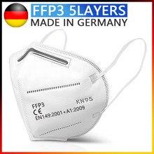 Masque de protection FFP3, 5 couches, réutilisable, Anti-poussière, antibactérien, Virus