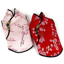Summer For Dog Pets Small Medium Dogs Chinese-Style Cheongsam Clothing Cat Embroidery