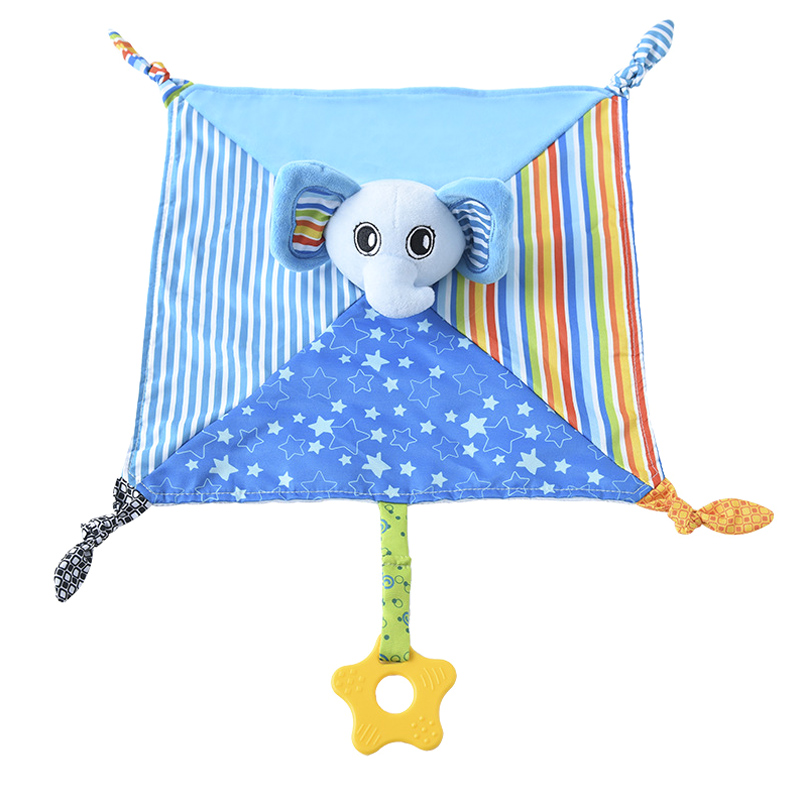 Baby Comforting Blanket Soft Square Plush Appease Towel Cute Cartoon Teether YH-17