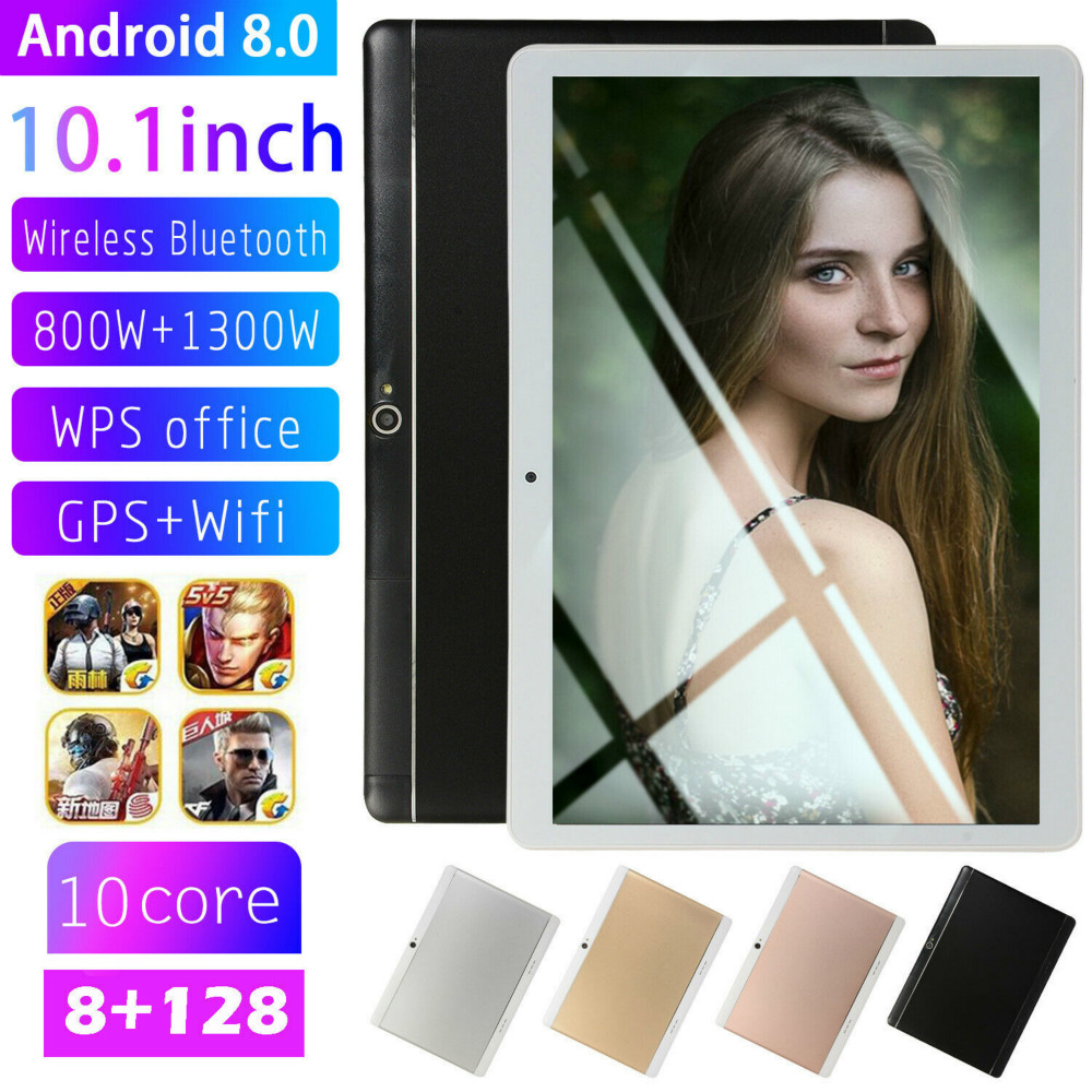 2020 Google Android 8.0 Ten Core 10.1 Inch 8G+128GB HD Game Tablet Computer PC GPS Wifi Dual Camera  Tablet 10.1 For Kids Gift
