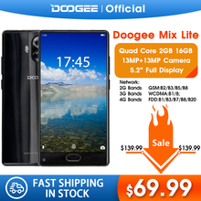Original DOOGEE MIX Lite Smartphone Dual Camera 5.2'' MTK6737 Quad Core 2GB+16GB Android 7.0 3080mAh