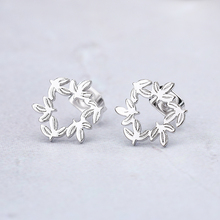 Tiny Small Stainless Steel Hollow Out Cherry Flower Earrings For Women Minimalist Flora Rose Gold Color Bronics