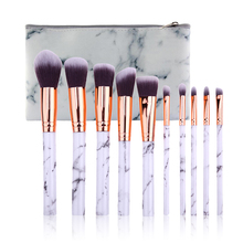 Marble Patten Makeup Brush Set for Cosmetic Powder Foundation Eyeshadow Lip Make up Brushes Set Beauty Tool maquiagem Dropship
