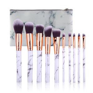 Image 1 - Marble Patten Makeup Brush Set for Cosmetic Powder Foundation Eyeshadow Lip Make up Brushes Set Beauty Tool maquiagem Dropship