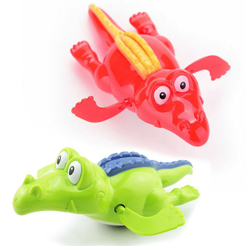 2X Wind Up Clockwork Crocodile Kid Baby Swimming Favor Bath Fun Time Play Toy