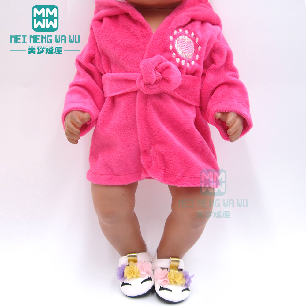 Doll Clothes For 43 Cm Baby New Born Doll A Variety Of Pajamas And Bathrobes