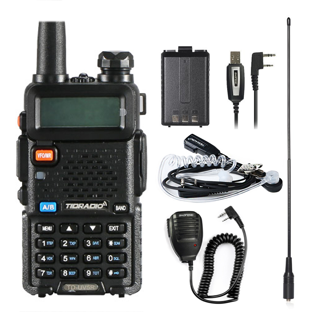 Walkie Talkie TD UV5R Radio Stations VHF UHF 136-174MHz&400-520MHz Professional Portable Walkie-talkie Uv5r