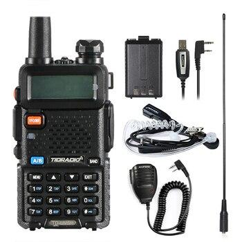 Walkie Talkie TD UV5R estaciones de Radio emisoras vhf y uhf 136-174MHz y 400-520MHz portátil profesional Walkie -talkie uv5r walky talky