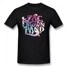 Women's Cotton Zac Brown Band T-Shirts X-Large Black Summer Basic Casual Short Cotton T-Shirt(Regular And Big And Tall Sizes I(China)