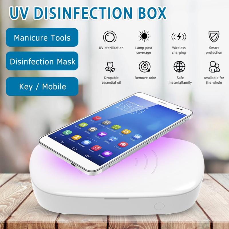 UV Light Anti Bacteria Sterilizer Box Jewelry Mask Cleaner Ultraviolet Ray Disinfection Sterilization Box Disinfector Nail Box