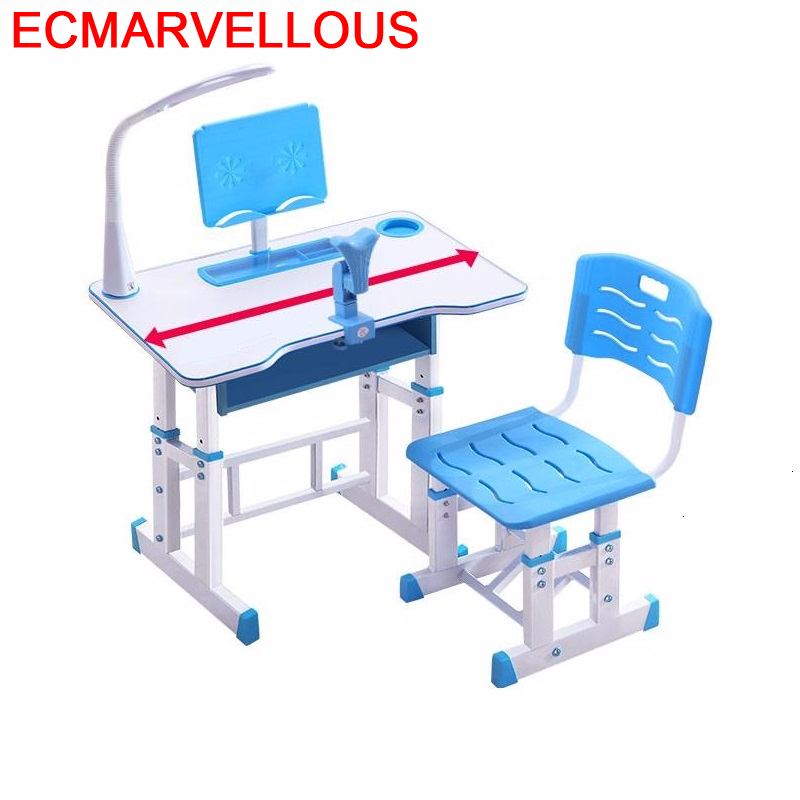 Tavolino Scrivania Children Play Per Chair And Desk Tavolo Bambini Adjustable Mesa Infantil For Bureau Enfant Kids Study Table