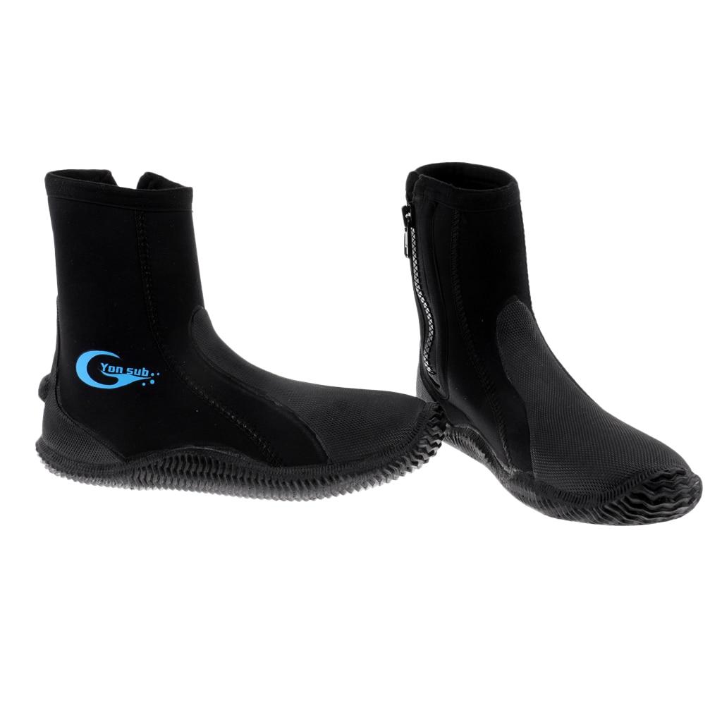 Premium 5mm Neoprene Scuba Diving Wetsuit Zipper Boots Anti-slip Warm Socks