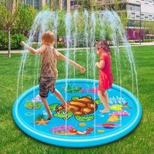 2020 nowa duża woda Spray Pad gra na zewnątrz zraszacz Pad żółw wody Spray Pad Splash Pad nadmuchiwane dzieci basen dla dzieci Pad Outdo tanie tanio 2-4 lat 5-7 lat